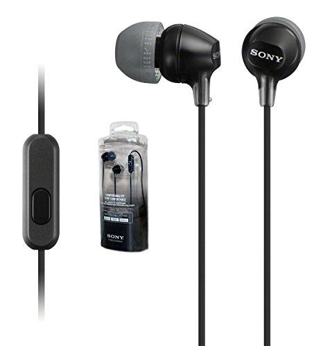 Sony MDR-EX15AP - Auriculares estéreo con micrófono y Mando a Distancia para Android/Apple/Rim/Windows (Paquete al por Menor)