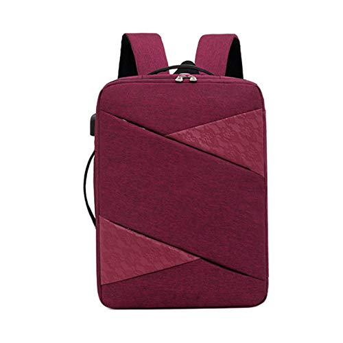 HS-LAMP Travel Backpack, Large Laptop Business Backpack Bag with USB Charging Port Water Resistant School Rucksack Fits up to 15.6 Inches Business College Outdoor Travel Hiking Bag for Women Men