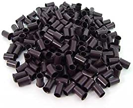 500 PCS 3.5 mm Dark Brown Color Copper Tubes Beads Locks Micro Rings for I Tipped Human Hair Extensions