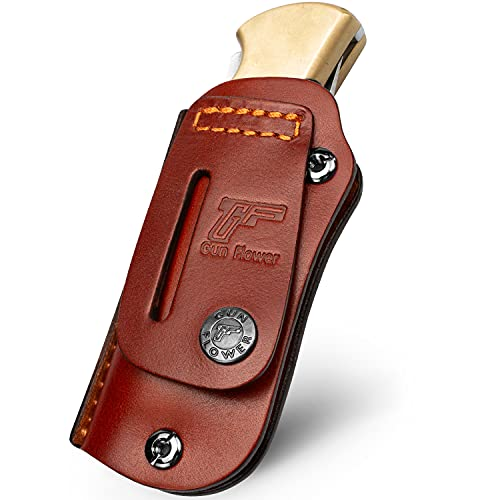 Leather Sheath for the Buck 110 Folding Knife (Knife not included),...