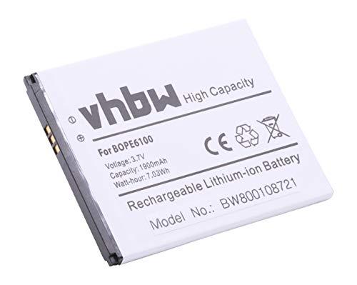 vhbw Li-Ion Akku 1900mAh (3.8V) für Handy Smartphone Handy HTC Desire 620, 620G, 820 Mini, D620h, D620u wie BOPE6100, 53264031.