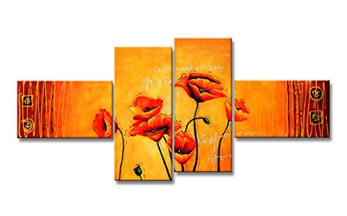 Quadro su tela a pannelli - Flowers