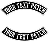 Custom Embroidered Motorcycle Patches,Personalized Embroidery Rocker Patch Biker Clothes Back Name Patch Sew on/Iron on for Jackets (2pcs Black #2)