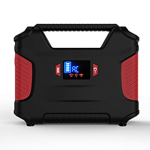 AJIU Portable Power Station 155Wh Rechargeable Solar Generators with AC Outlet, 2 DC Ports, 3 USB Ports & LED Flashlights, for Travel Outdoor Camping Emergency