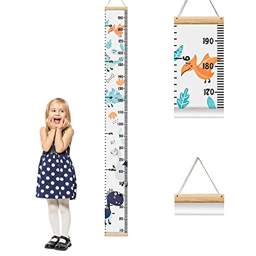 Messlatte Kind Messlatte Kinderzimmer Aufrollbare Wandbehang Höhe Wachstum Diagramm Größenmesser Kinder und Baby Schlafzimmer Kinderzimmer Wanddekoration - SVTEOKO (Tier)