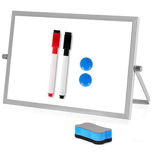 "Dry Erase Whiteboard, ACVCY 7""x 11"" Magnetic Desktop Small Whiteboard Versatile 360 Degree Reversible Whiteboard Durable Small Dry Erase Board Apply to Office, Home, Kitchen, School Etc."