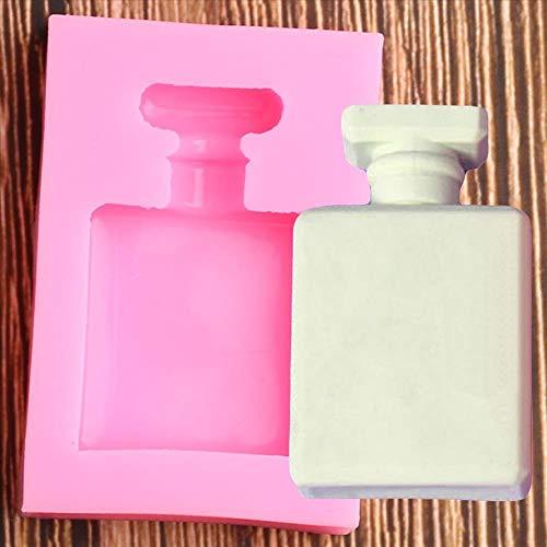 QWP 3D botella de Perfume molde de silicona herramientas de decoración de pasteles de boda Cupcake Topper Chocolate Gumpaste Fondant molde hornear moldes (Color : A)