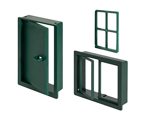 Teifoc-T994700 Teifoc Puerta Dos Pack de Windows, Color Maroon (T994700)