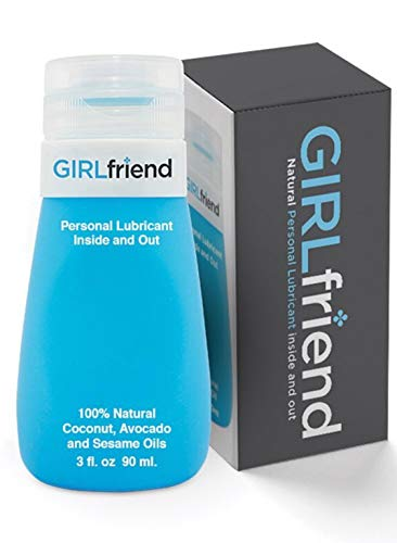 GIRLfriend All Natural Personal Lubricant | Delicious Tasting Best Vegan Edible Sex lube for Couples, Women, Men | Made in USA | Patented 3 oz No Drip Bottle Flip Top Cap