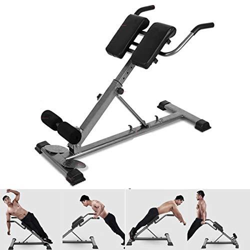 HT&PJ Der Bank Römischer Stuhl Multifunktionaler Fitnessstuhl eignet Sich für Männer und Frauen um Verschiedene Muskeln zu trainieren (schwarz)