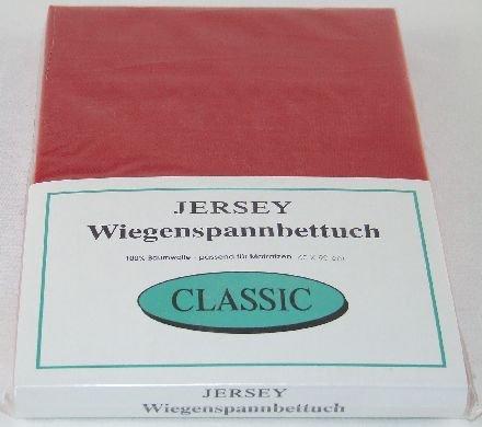 Hoeslaken Jersey 40x90 wieghoeslaken in rood 4 stuks
