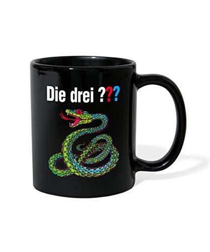 Die Drei Fragezeichen und die singende Schlange Tasse einfarbig, Schwarz