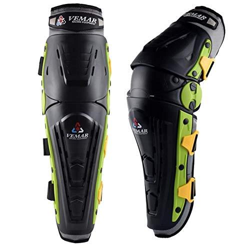 XXY Protector De Rodilla Motocicleta Rodilla Pads Adulto Algodón Kneepad Unisex Kneepads Ciclismo Comfotable Flexible Ajuste Montar MTB ATV para el Ciclismo (Color : Green)