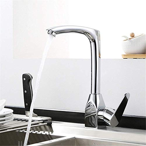Find Discount KONGZIR Fashion Bathroom Mixer Tap, Single Handle Bathroom Sink Faucet, Chrome-Plated ...