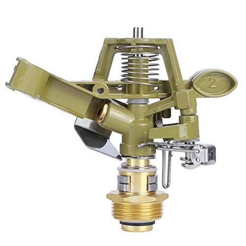 Jenngaoo Boquilla de riego para riego G3/4 '', Rosca Externa de aleación de Aluminio, Boquilla de riego con Brazo oscilante Ajustable Giratorio de 360 °, Cabezal de riego por aspersión de Agua