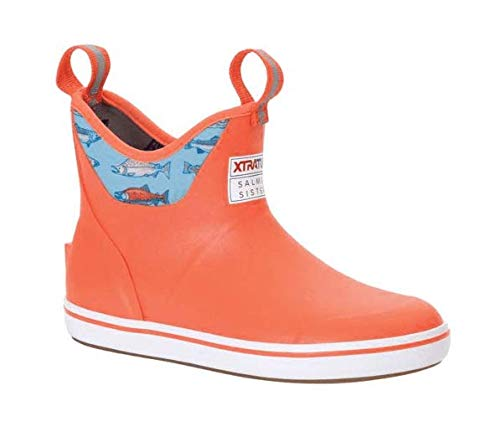 XTRATUF Women's Salmon Sisters 6 In Ankle Deck Boot Coral/Salmon (XWAB-307)