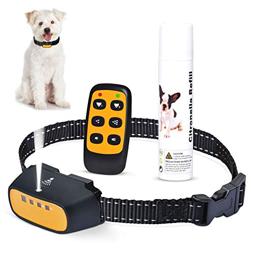 Citronella Spray Bark Collar, No Electric Shock Safe Dog Training Collar, Rechargeable Waterproof Anti-Bark Device for Small Medium Dogs