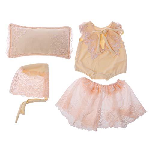 Pasgeboren Baby Fotografie Props Zachte Kant Positioner Kussen Bloemen Hoed+Jurk Outfits Set Baby Studio foto Shoot Props 0-1M