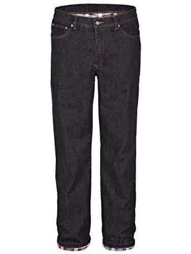BABISTA Herren Thermo-Jeans – Männer-Hose aus Baumwoll-Mix, gerade Jeans-Hosen mit wärmendem Thermo-Futter, Freizeit-Hose in Schwarz Gr. 24