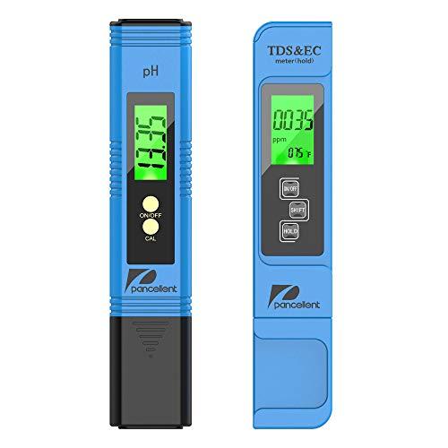 Pancellent Wasserqualitätstest Meter TDS PH EC Temperatur 4 in 1 Set für Hydrokultur, Aquarien, Trinkwasser, RO-System, Fischteich und Schwimmbad