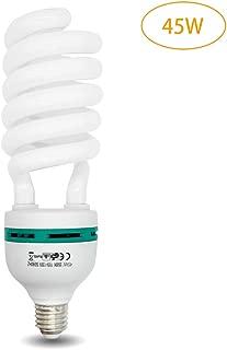 MOUNTDOG 45W Photography Softbox Light Bulbs 5500K Full SpectrumCFL Daylight for Photo Video Studio Lighting-Pure White