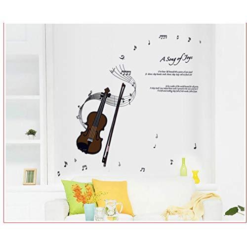 Doe-het-zelf 3D-muursticker, viool-noten, muziek, vinyl, wandsticker, quotes, decoratie voor kinderen