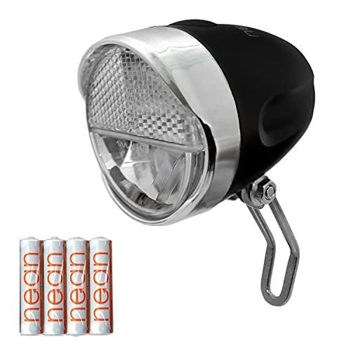 nean Feu Avant à LED pour vélo avec Homologation StVZO, Piles incluses, 30 Lux
