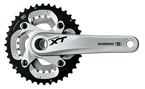 Shimano XT 10V 38/24 Bielas, Plata, 175 mm