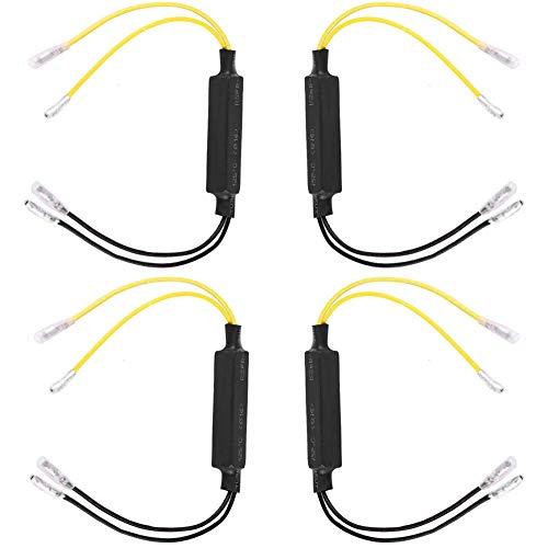 4 pcs Adattatore di Resistenze del Frecce moto LED,12V 21W Resistenze di Frecce moto LED,Resistore del Indicatori per moto,Buone Resistenze Funzionano per Frecce moto LED