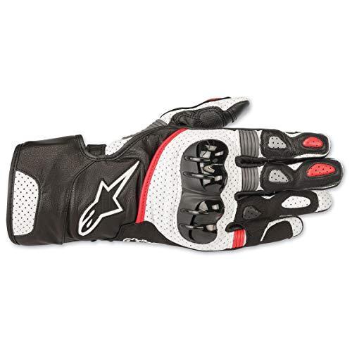 Alpinestars SP-2 v2 Lederhandschuhe schwarz/weiß/rot LG