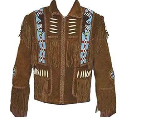 Western Leather Style - Giacca - università - Uomo Brown Small