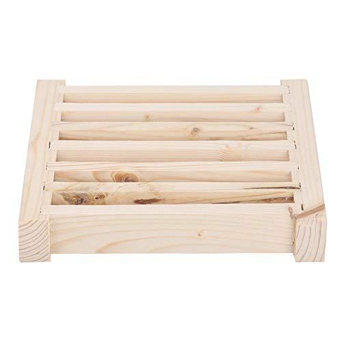 Jacksking Saunagitter, multifunktionales Zubehör für Saunaräume aus Holz, Lamellen-Zedernholz-Lüftungsgitter und Lüftungsauslass Oberflächenabfall in der Bodenmontage für Dampfbad-Saunaräume