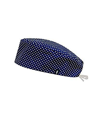 Modelo: AZUR - Estampado-Gorro de Quirófano ROBIN HAT- Pelo Corto - Ajustable- 100% -algodón (Autoclave)