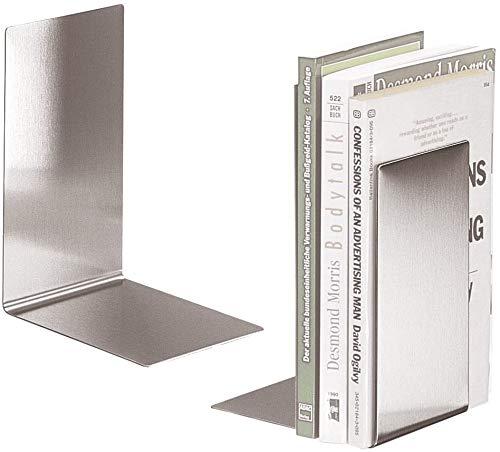 Buchstützen aus Edelstahl | BOOKBOYS | 2er-Set | Ofform Design | Nr.2622