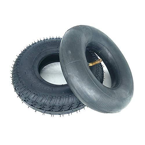 HZWDD Neumático para Scooter eléctrico, 9 Pulgadas 2.80/2.50-4 Neumático sólido a Prueba de explosiones, Neumáticos Interiores y Exteriores Antideslizantes Resistentes al Desgaste, Accesorios pa