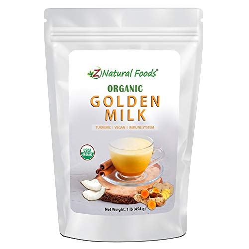 Organic Golden Milk Powder - Turmeric Superfood Blend - Promote Relaxation & Recovery - Support Immune System - Mix In Coffee, Tea, Latte, Smoothies & Recipes - Non GMO, Vegan, Gluten Free - 1 lb