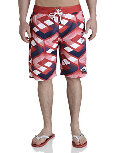 Smith and Jones - Short de bain - Homme Rouge Chinese Red - Rouge - Large