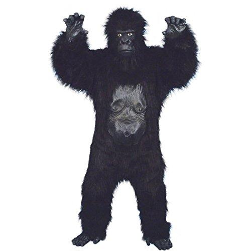 NET TOYS Deluxe Gorilla Kostüm Affenkostüm Schwarz Gorillakostüm AFFE King Kong Tierkostüm Affen Kostüm Kink Kong Overall
