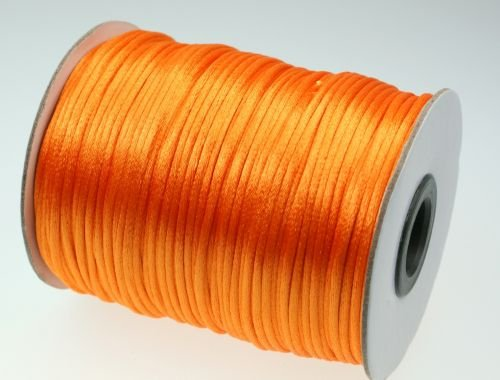 100M Rollo satén Cordón–2mm de grosor–Color: Naranja
