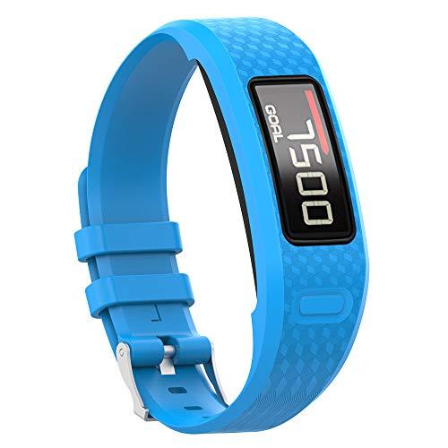 Uhrenarmbänder für Garmin Vivofit 1 Vivofit 2 Armband, Silikon Atmungsaktiv Replacement Uhrenarmband Sportarmband Band Erstatzband mit Schließe Bands Armband Band (Himmelblau)