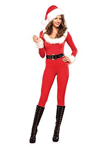 Leg Avenue 85357 Santa Baby Catsuit - Größe Medium EUR 38, Large EUR 40, rot/weiß