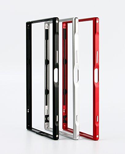 sony Xperia XZ Premium 【SWORD】アルミバンパー ケース ストラップホール付 ソニー エクスペリア XZ プレミアム メタル アルミバンパー (Sony Xperia XZ Premium, ブラック)