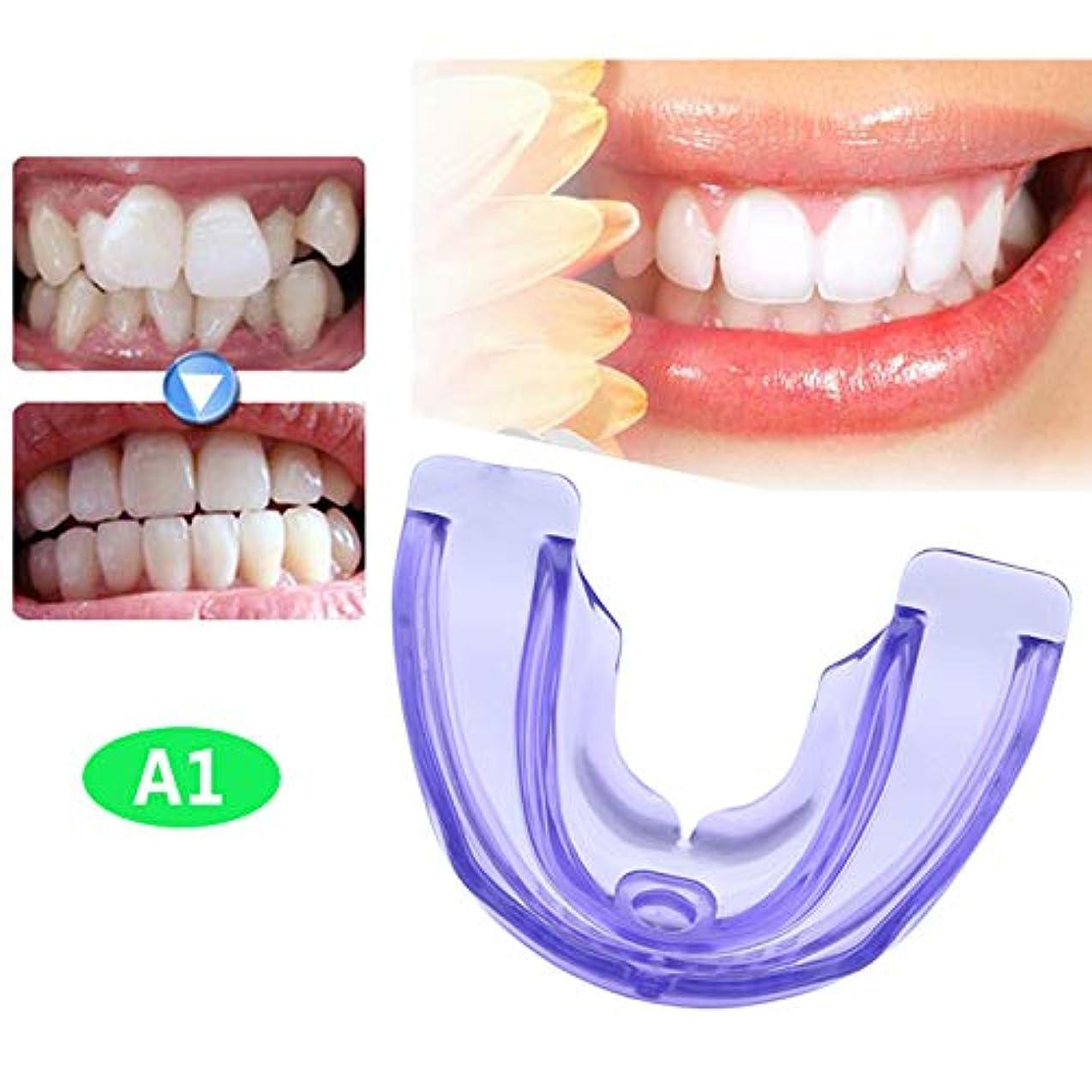 イサカパーチナシティ不均一歯合わせブレース、歯列矯正歯アプライアンスナイトマウスガードスリム、歯グラインダープロテクター,A1