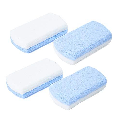SUPVOX Lot de 4 outils de pédicure en pierre de lave double face pour enlever la peau dure pour les mains et les pieds