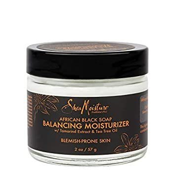 SheaMoisture Balancing Moisturizer for Dry Skin African Black Soap with Shea Butter 2 oz