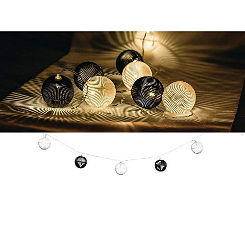 EQT-TEC Lichterkette 10 LED 2.1 m Licht Dekoration Ball Lichtschlauch Fotoshooting Deko Lampe