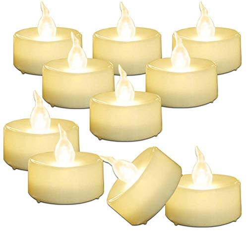 AMAGIC 30 Pack LED Tea Lights, Lasts 2X Longer, Flameless Tealights Candles with Flickering Warm White Light, Battery Operated Tea Lights Bulk for Mothers Day Gifts, D1.4   X H1.3