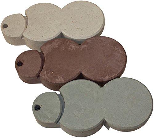 Bio-Rasenkante RKS-GRANITGRAU-SET 1 Rasenkantensteine, 22 x 10 x 5,5 cm, granitgrau