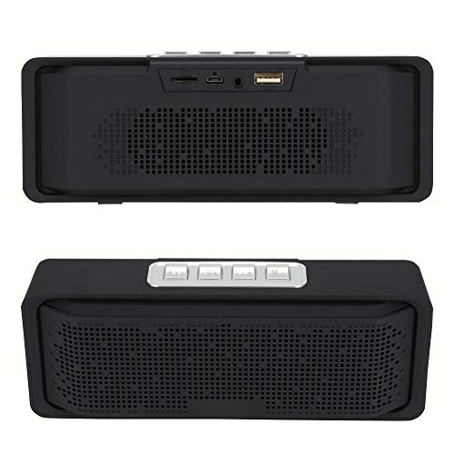 Wendry Bluetooth 5.0 Speaker, Stereo Geluid met Rijke en Nauwkeurige Bass Speaker, Ingebouwde Pratende Microfoon Draagbare HIFI Draadloze Stereo Bass Speaker, Zwart