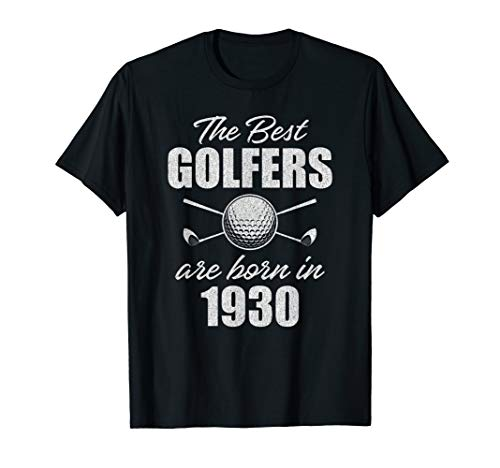 Image of the Gift for 90 Year Old: Golfer Golfing 1930 90th Birthday T-Shirt